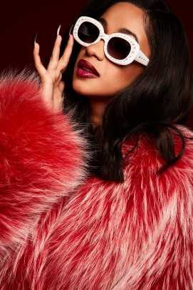 Cardi B white sunglasses